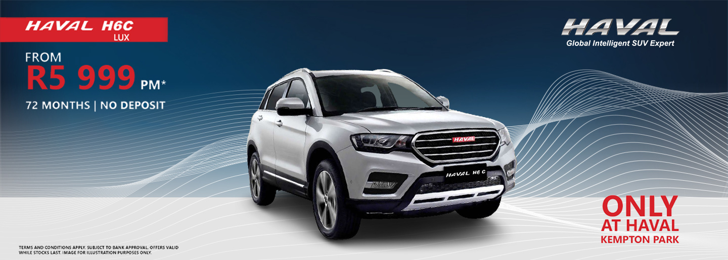 HAVAL H6C LUX from R5 999pm banner
