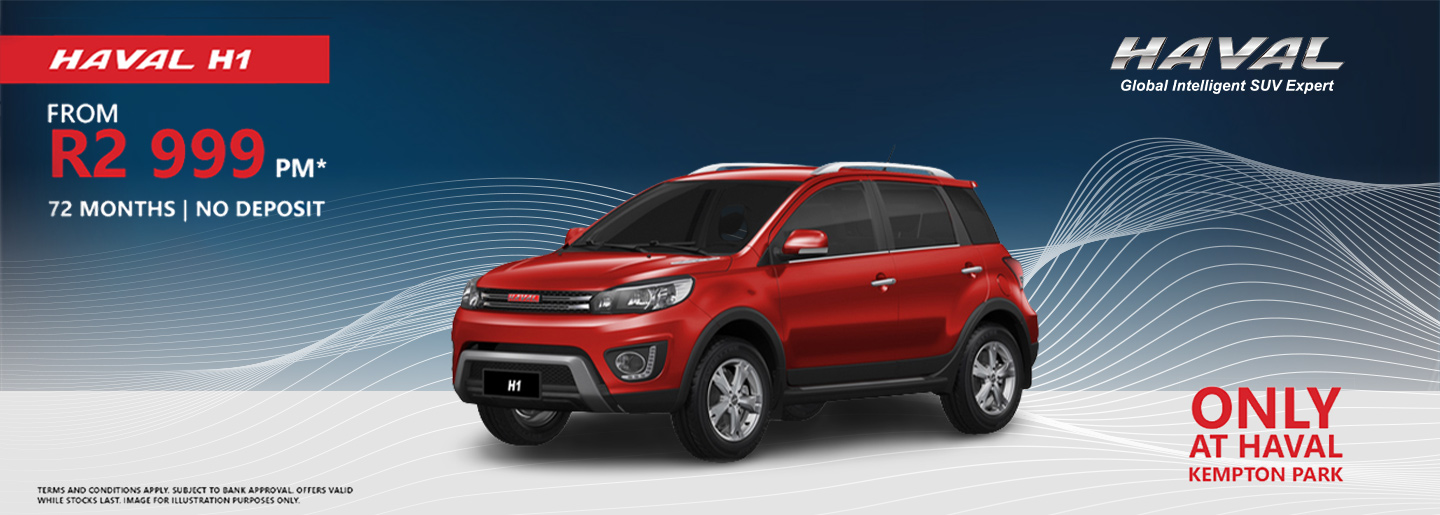 HAVAL H1 from R2 999pm banner