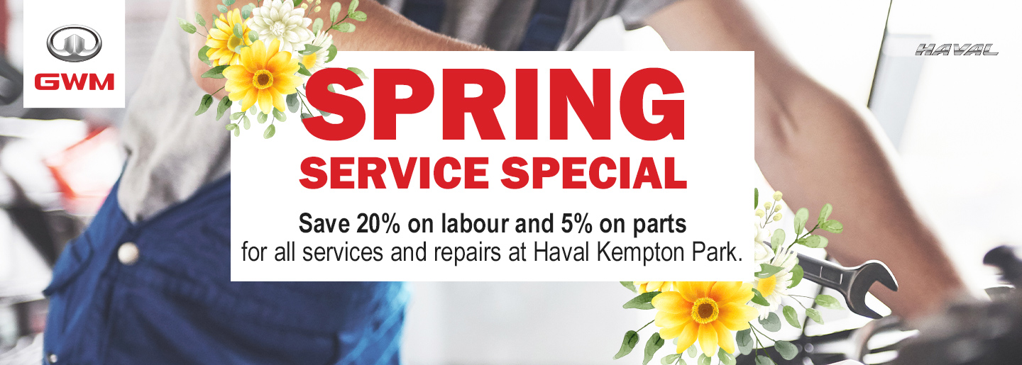 Spring Service Special banner