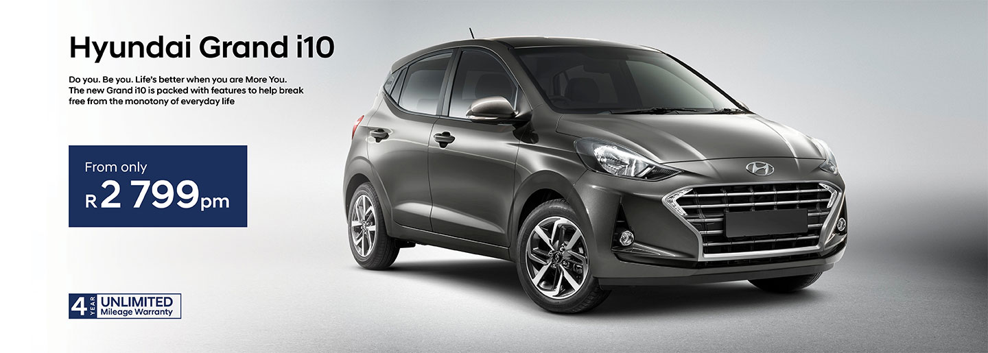 Hyundai Grand i10 from only R2 799pm banner