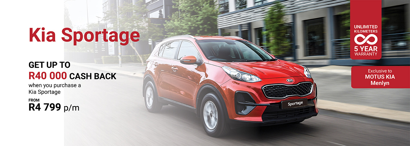Kia Sportage from R4 799 p/m banner