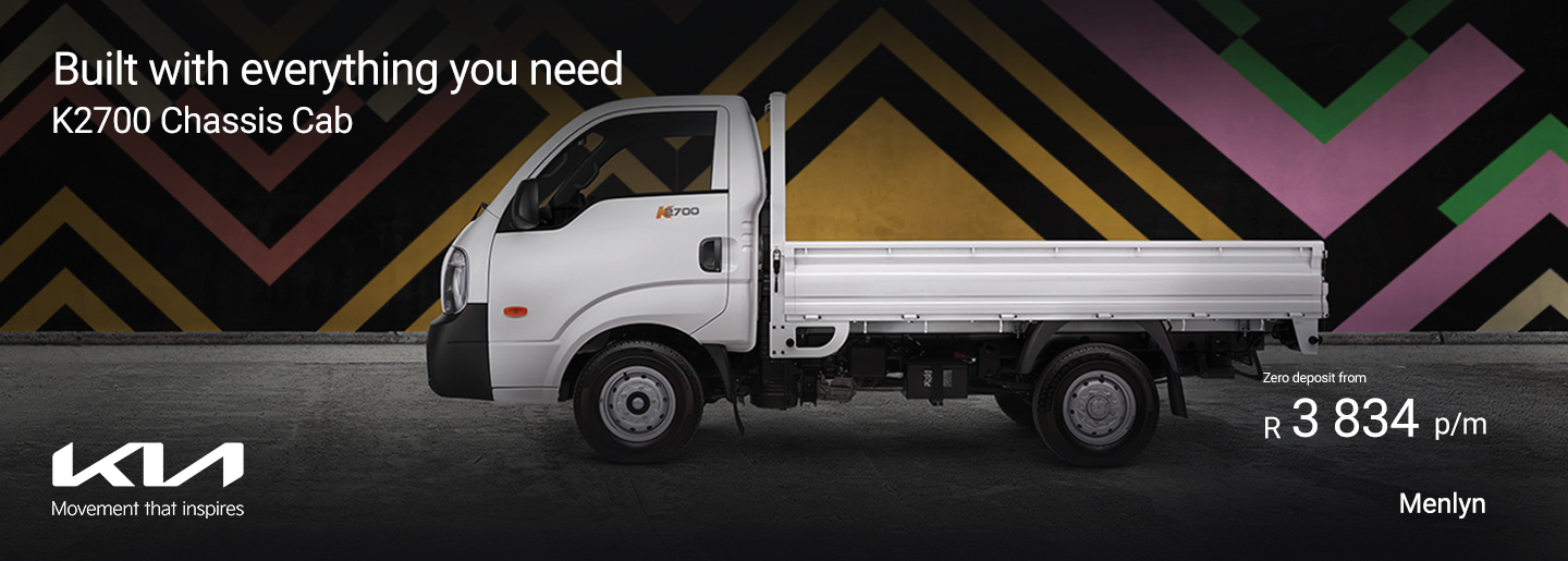 Built with everything you need - K2700 Chassis Cab banner