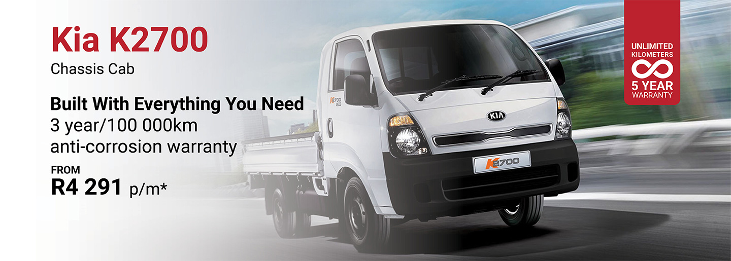 Kia K2700 Chassis Cab from R4 291pm banner