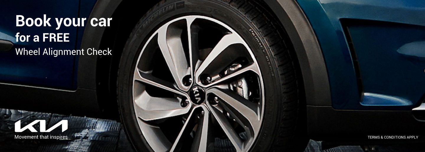 Book your car for a FREE Wheel Alignment Check banner