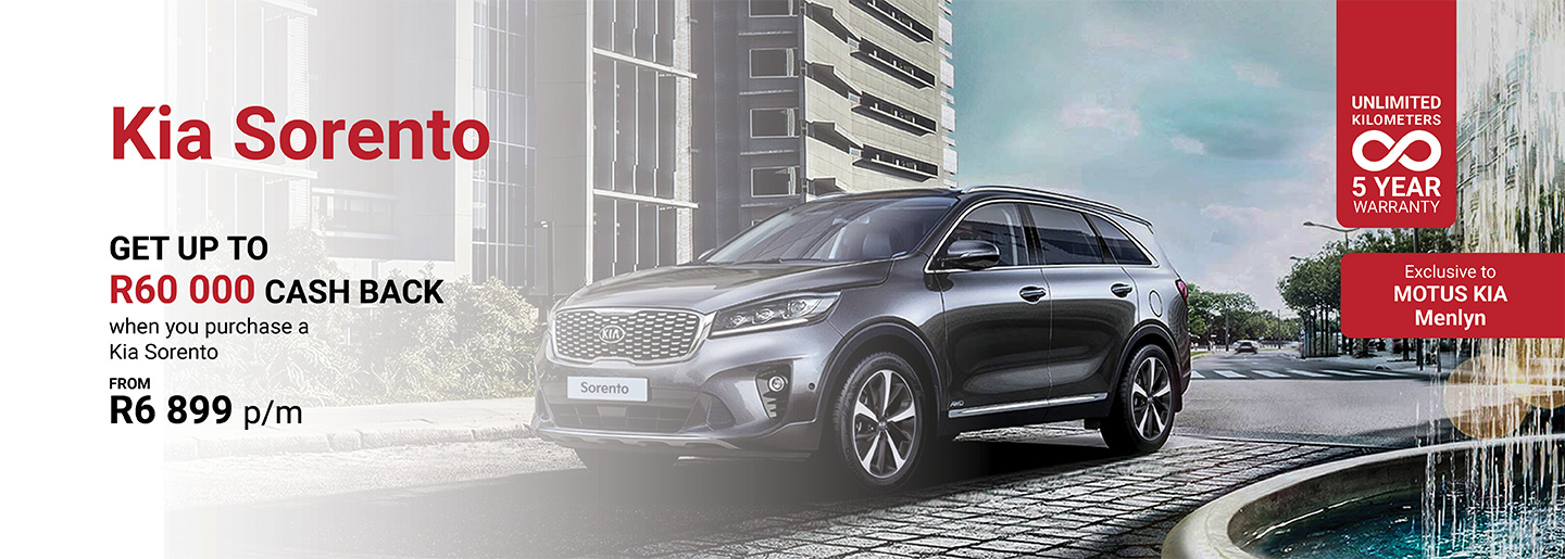 Kia Sorento from only R6 899pm banner