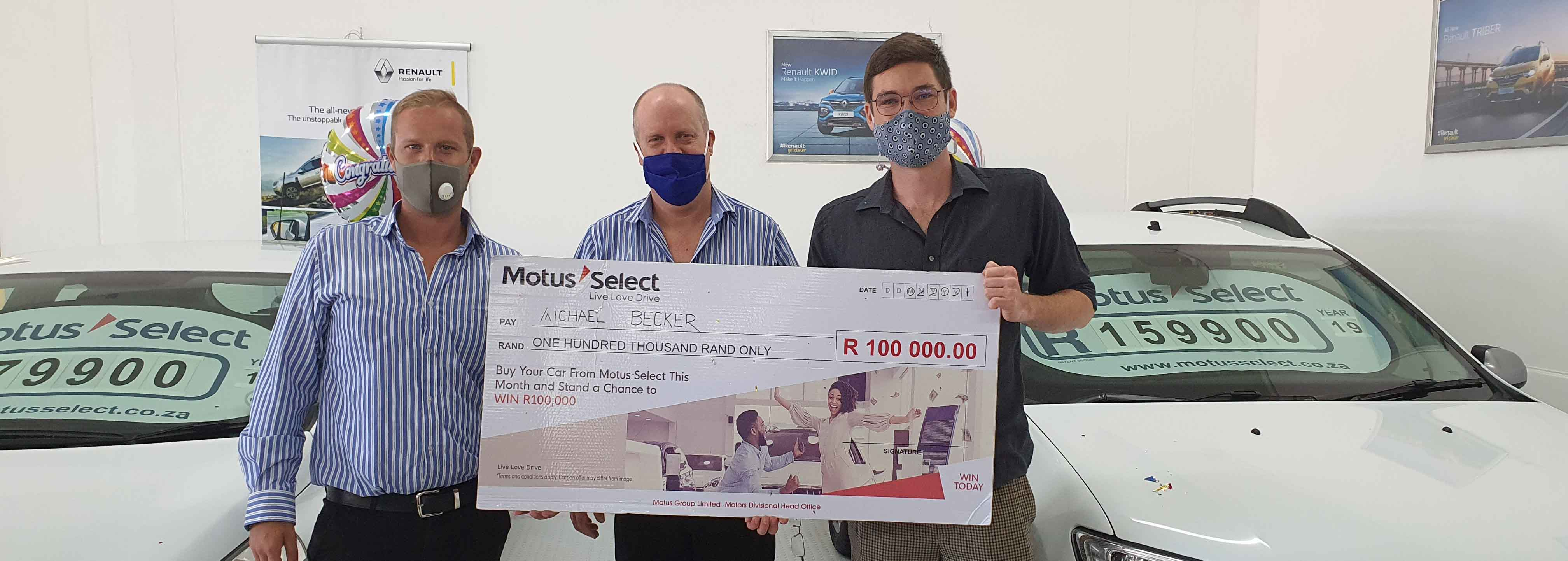 Motus Select awards second shopper with R100 000 prize