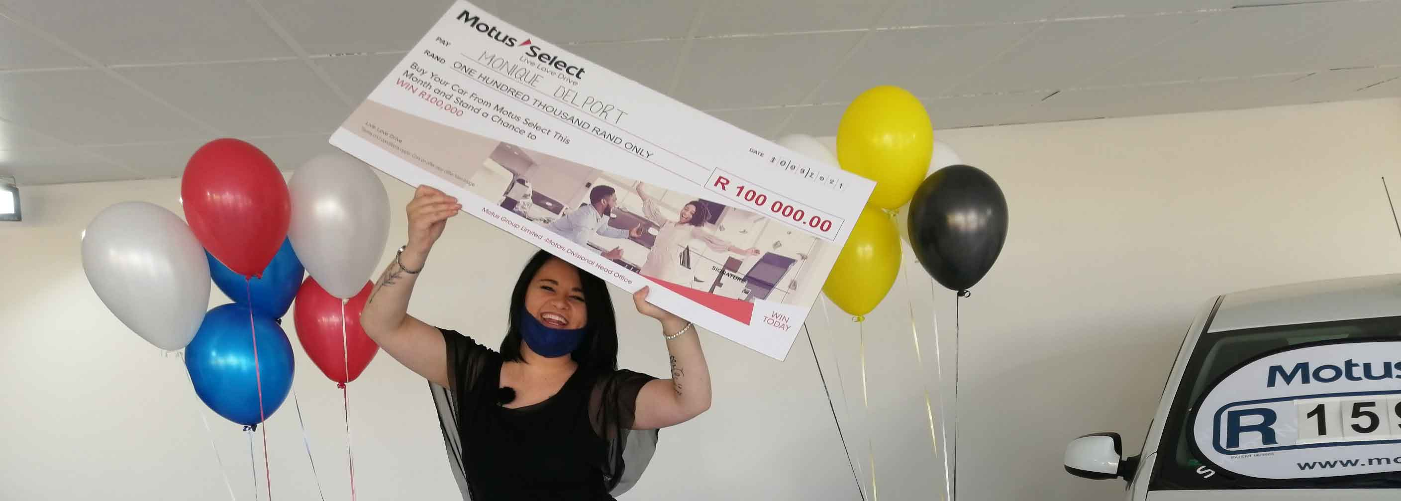 Motus Select awards third shopper with R100 000 prize