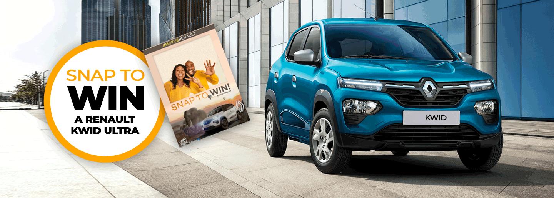 SNAP TO WIN a Renault Kwid Ultra at Motus Renault