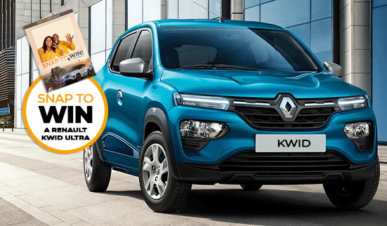 SNAP TO WIN a Renault Kwid Ultra at Motus Renault blog card image