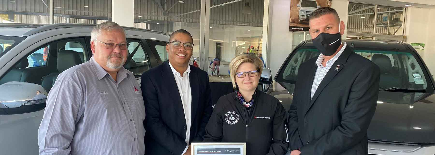 Mitsubishi South Africa receives performance award